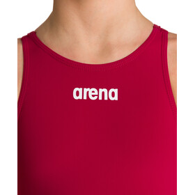 arena Powerskin St 2.0 Short Leg Open Full Body Suit Jenter deep red